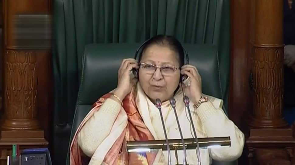 Lok Sabha Speaker Sumitra Mahajan suspends another 19 MPs