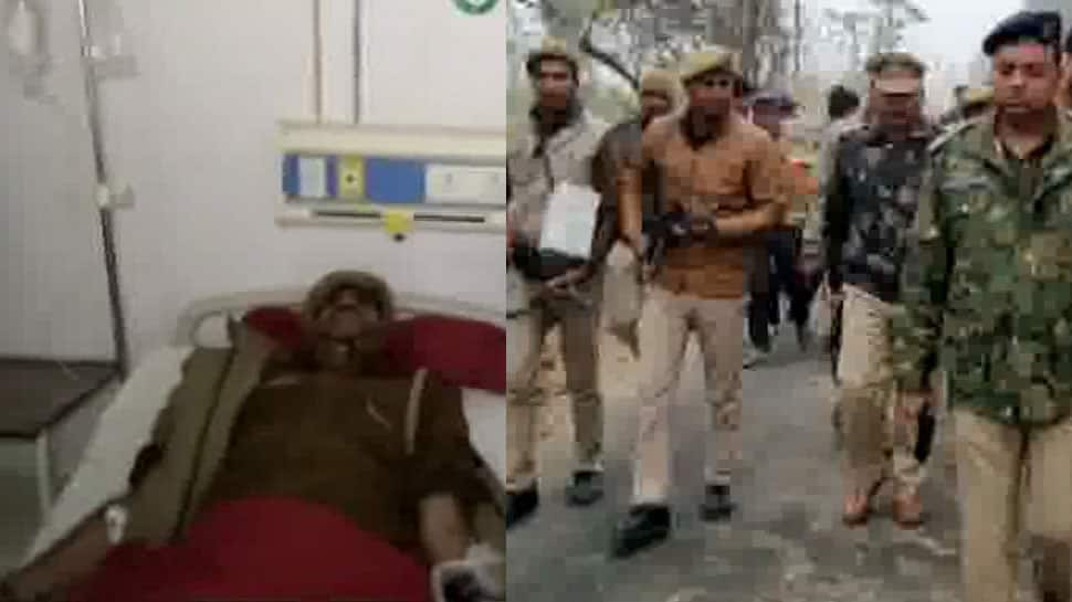 UP cop, who shouted 'thain, thain' to scare criminals, injured in firing by miscreants in Sambhal