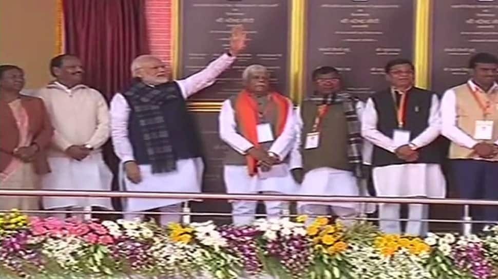 PM lays foundation of irrigation projects in Jharkhand, slams Congress for treating farmers as vote bank