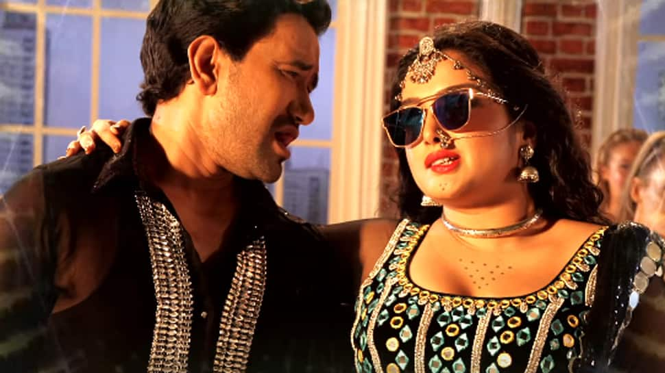 Amrapali Dubey-Nirahua aka Dinesh Lal Yadav's  song sets YouTube on fire—Watch