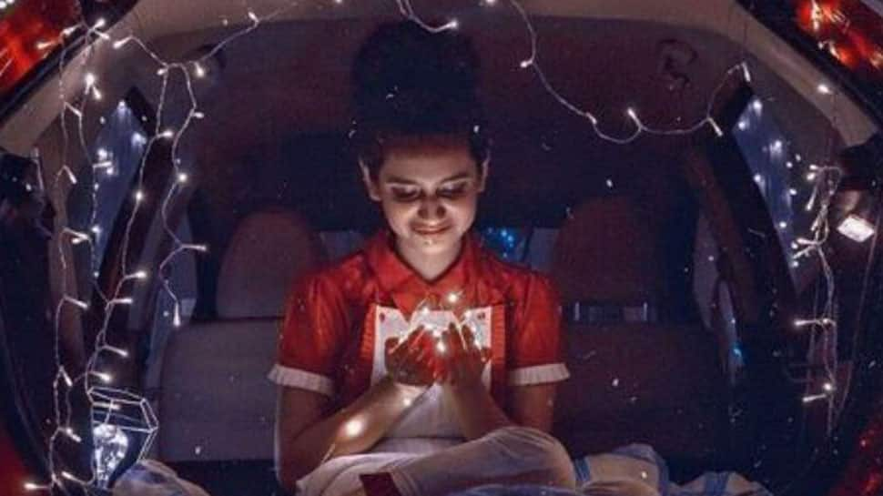 Priya Prakash Varrier turns car's rear into a dreamy spot with fairy lights-See pic