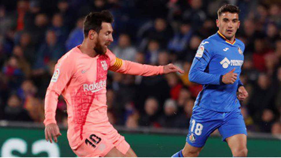 Lionel Messi on target again as Barcelona stretch La Liga lead