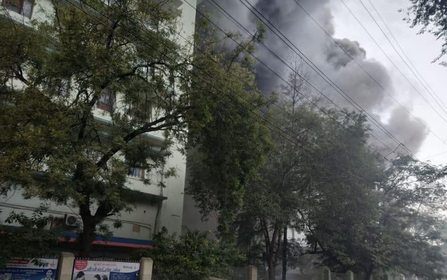 7 injured after massive fire at under-construction hospital building in Nagpur