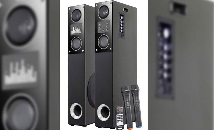 Intex launches Multimedia Trolley Speaker T-200, Tower Speaker with Dual Mike