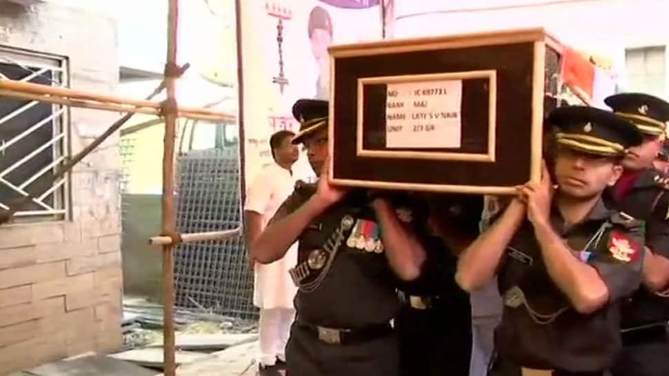 Mortal remains of Major Shashi Dharan V Nair, who lost his life in IED blast in Nowshera, brought home