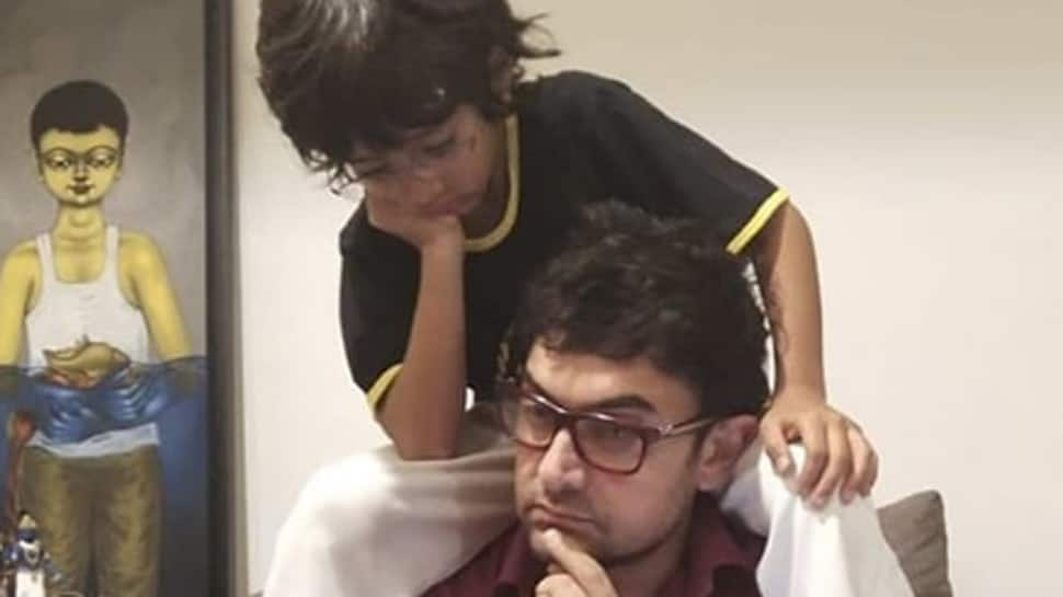 Aamir Khan's pic with son Azad is too cute to miss!