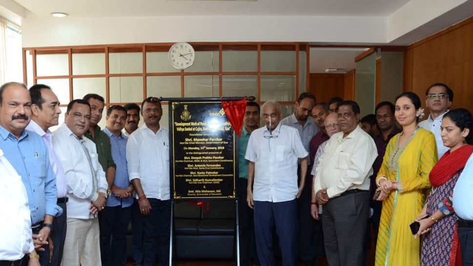 Manohar Parrikar lays foundation stone for school complex in Cujira