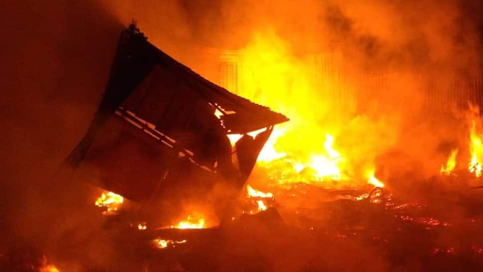Fire breaks out in 6 industrial godowns at Mumbra's Shilphata