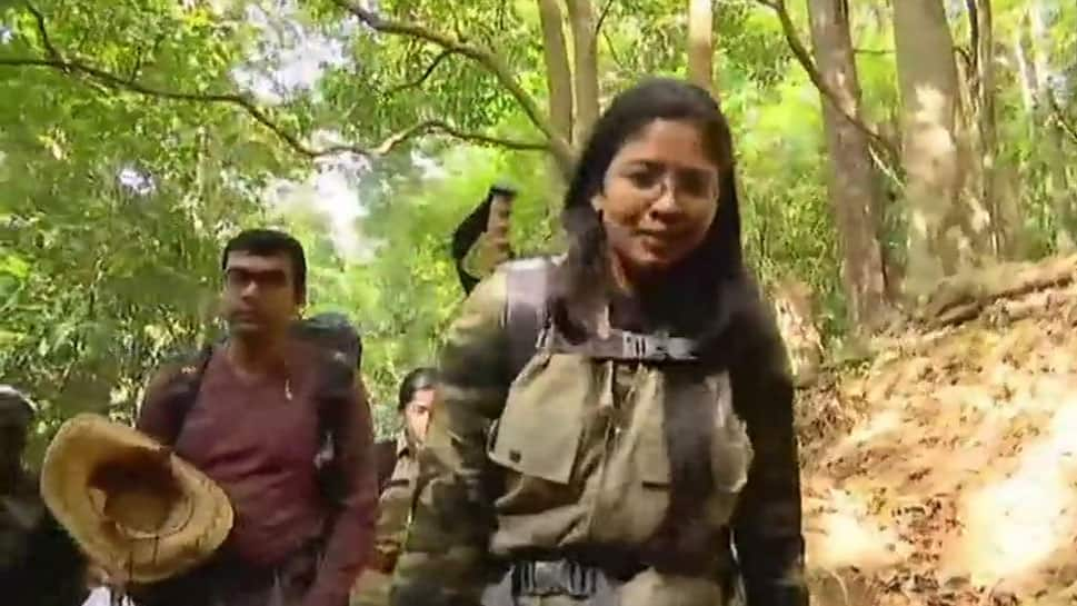 Defence Ministry spokesperson Dhanya Sanal becomes 1st woman to trek to Kerala's Agasthyarkoodam peak amid protests