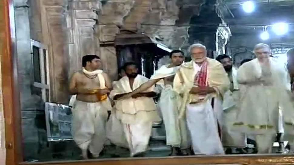 PM Narendra Modi visits Sree Padmanabhaswamy temple in Kerala, offers prayers