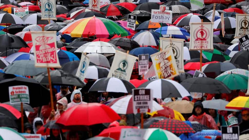 Los Angeles teachers strike extends to second day with no talks on horizon