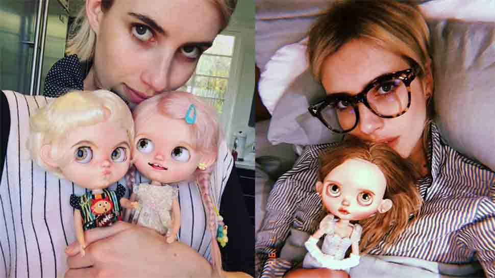 Emma Roberts obsessed with terrified-looking dolls, shares pics
