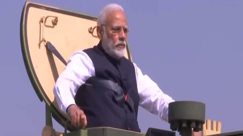 Watch: PM Modi inaugurates L&T's howitzer gun-manufacturing unit, rides a K9 Vajra