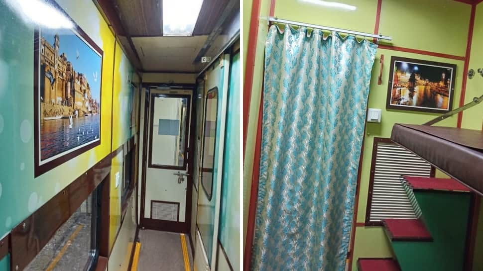 First AC Coach of Kashi Vishwanath Express gets a makeover! Here's the new look