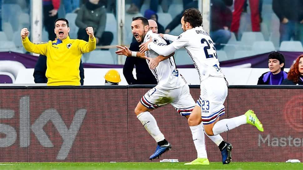 Series A: Fabio Quagliarella's late brace not enough for Sampdoria in 3-3 draw  against Fiorentina