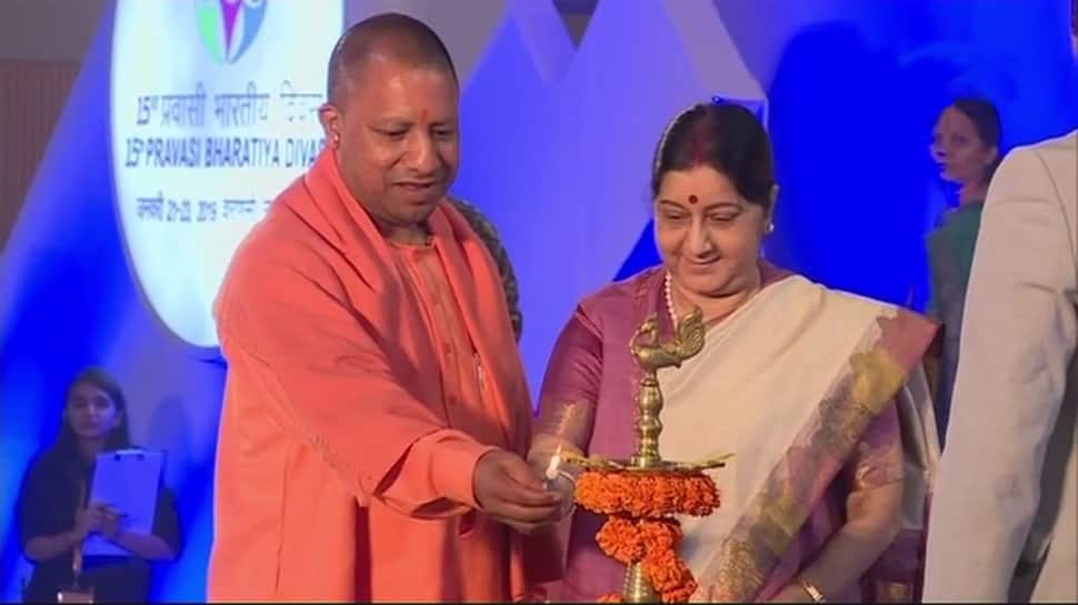 In a first, Varanasi hosts Pravasi Bharatiya Divas; UP CM Yogi Adityanath, EAM Sushma Swaraj inaugurate youth PBD