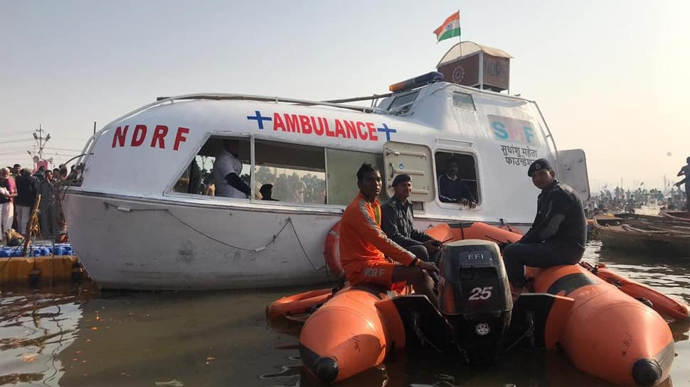 Water ambulances at Kumbh equipped with all emergency facilities including childbirth