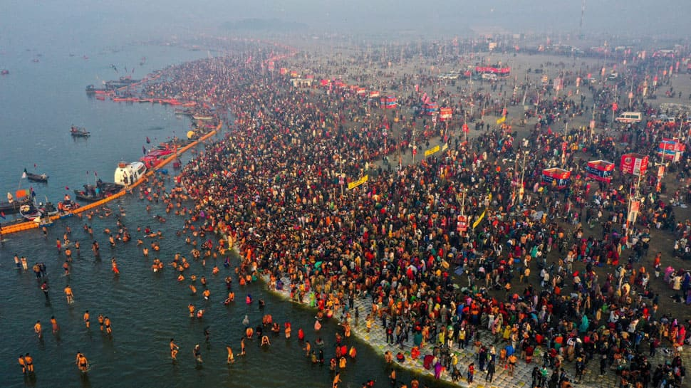 Fire breaks out due to gas cylinder leakage in tent at Prayagraj's Kumbh Mela