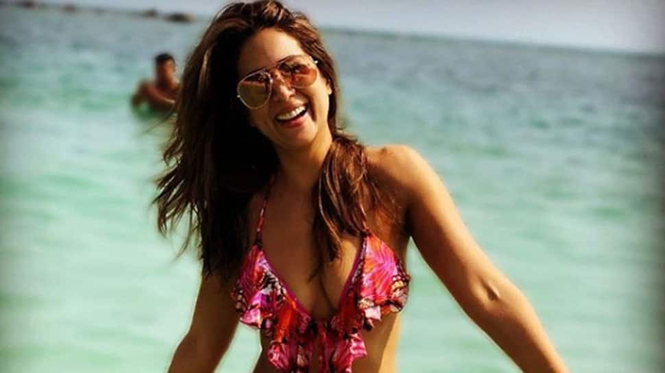 Kim Sharma raises temperature in a stylish bikini, celebrates birthday with beau Harshvardhan Rane– See pics