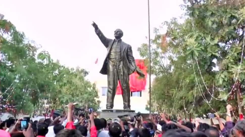 12-feet-long statue of Vladimir Lenin unveiled by CPI-M in Tamil Nadu