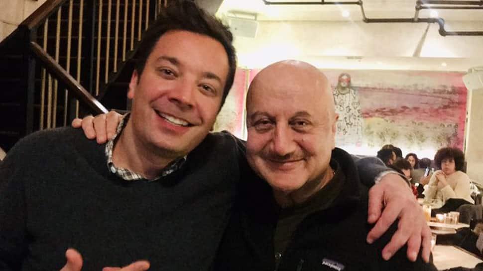 Anupam Kher meets 'mutual admirer' Jimmy Fallon
