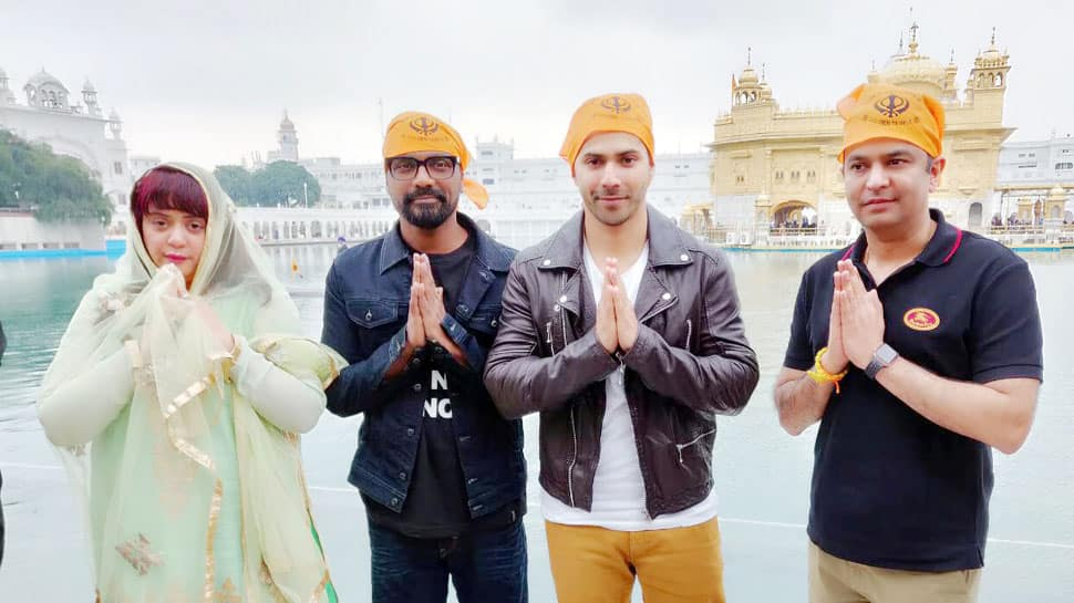 Varun Dhawan visits Golden Temple, begins shoot of new dance film - See Pics