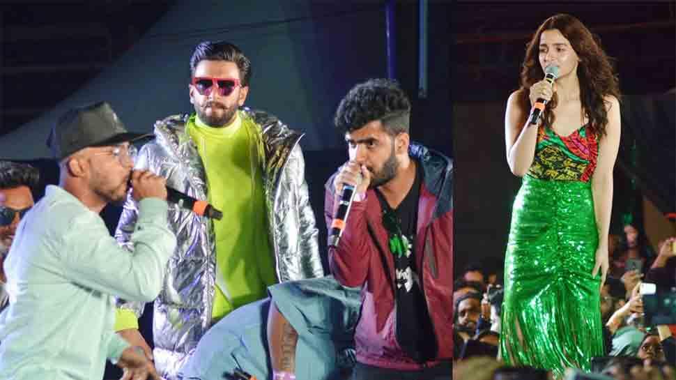 Ranveer Singh, Alia Bhatt steal thunder at Gully Boy music album launch