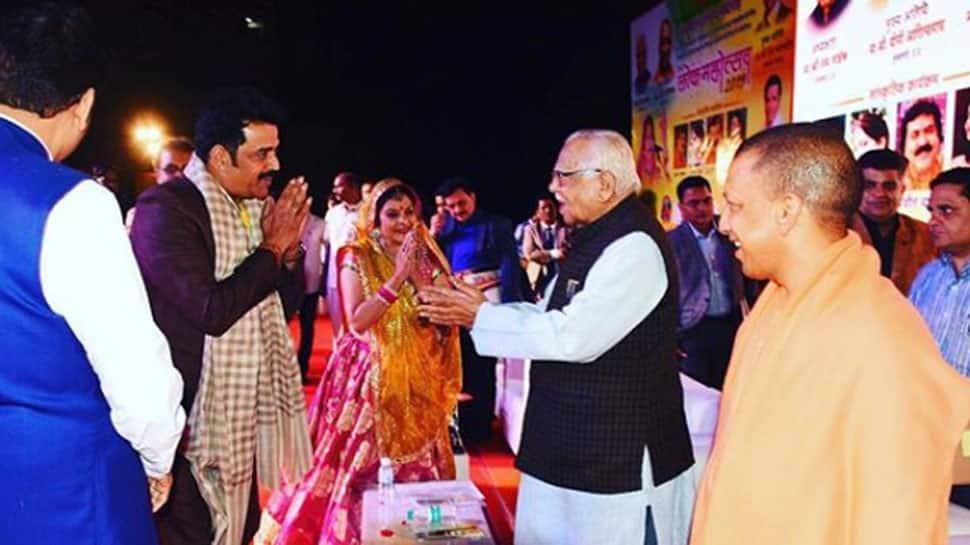 Aamrapali Dubey, Ravi Kishan, Anjana Singh receive Uttar Pradesh Samman Awards—See Pics