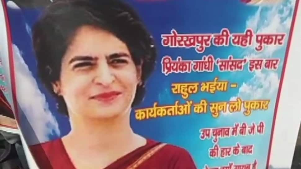 Priyanka Gandhi's posters come up in Gorakhpur, with a message for Rahul Gandhi