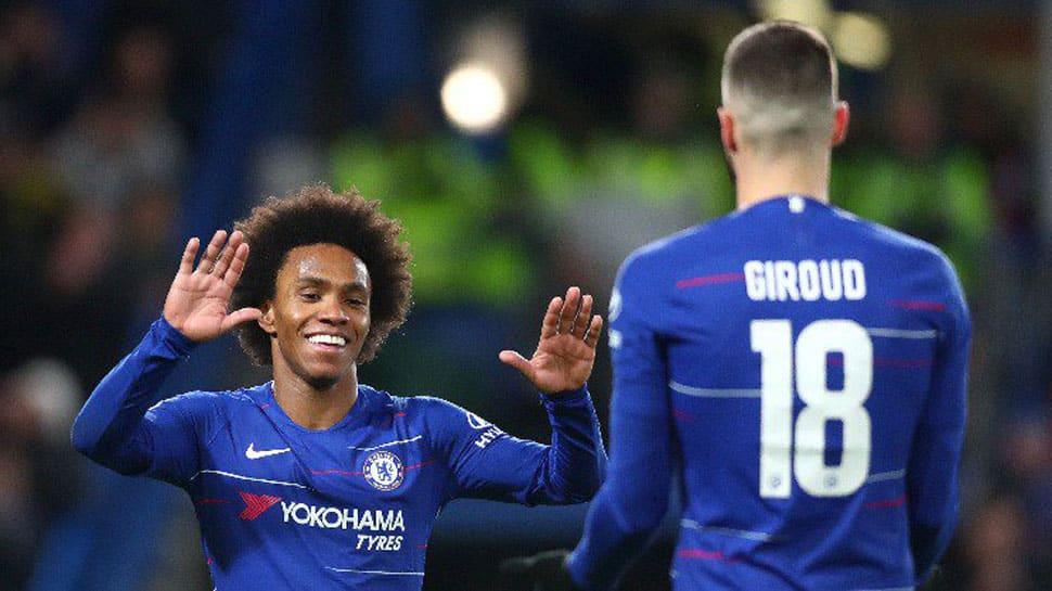FA Cup: Willian double helps Chelsea register 3-0 win on Gonzalo Higuain debut