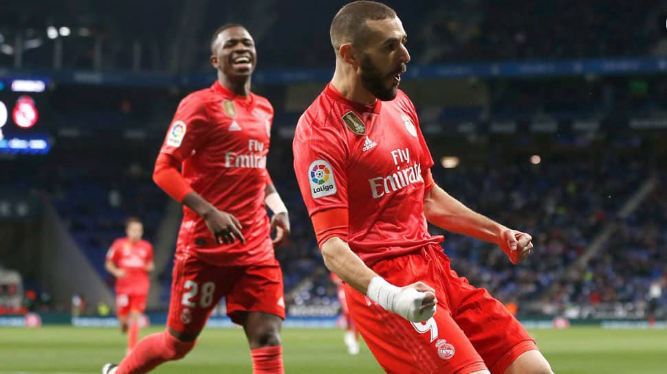 Real Madrid coach Santiago Solari toasts in-form Benzema after win at Espanyol