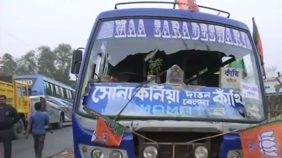 Vehicles used in Amit Shah's rally vandalised in West Bengal, BJP alleges TMC behind attack