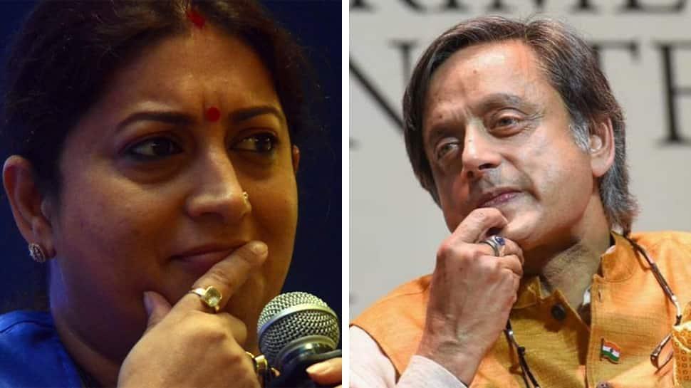How can 'janeu dhaari' Rahul allow attack on Hindu beliefs: Smriti Irani slams Shashi Tharoor