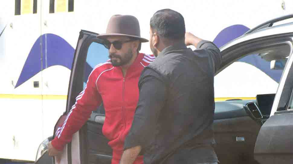 Ranveer Singh spotted on ad shoot sets in all-red attire — Pics