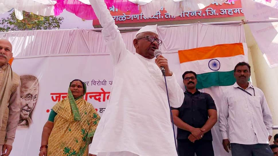 Villagers protest against PMO's 'cold response' to Anna Hazare's fast