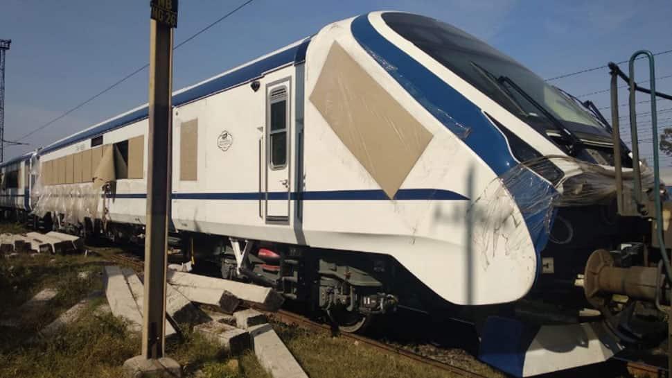 Miscreants pelt stones on new Train 18 during trial run