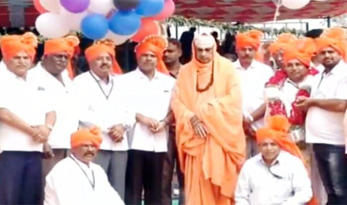 Three injured, close shave for Seer as Helium balloons burst into flames at Karnataka's Suttur Mutt - Watch