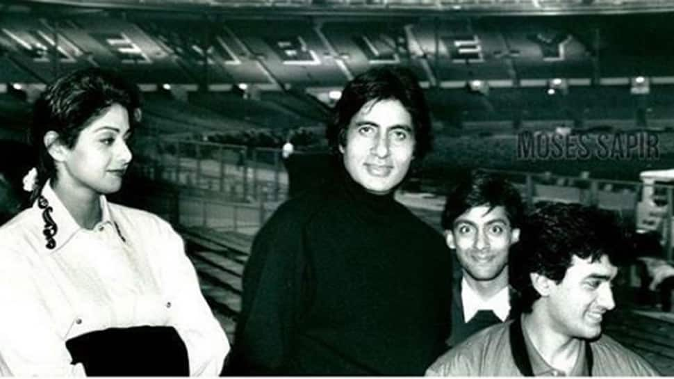 Amitabh Bachchan shares throwback picture with late actress Sridevi, Salman Khan and Aamir Khan