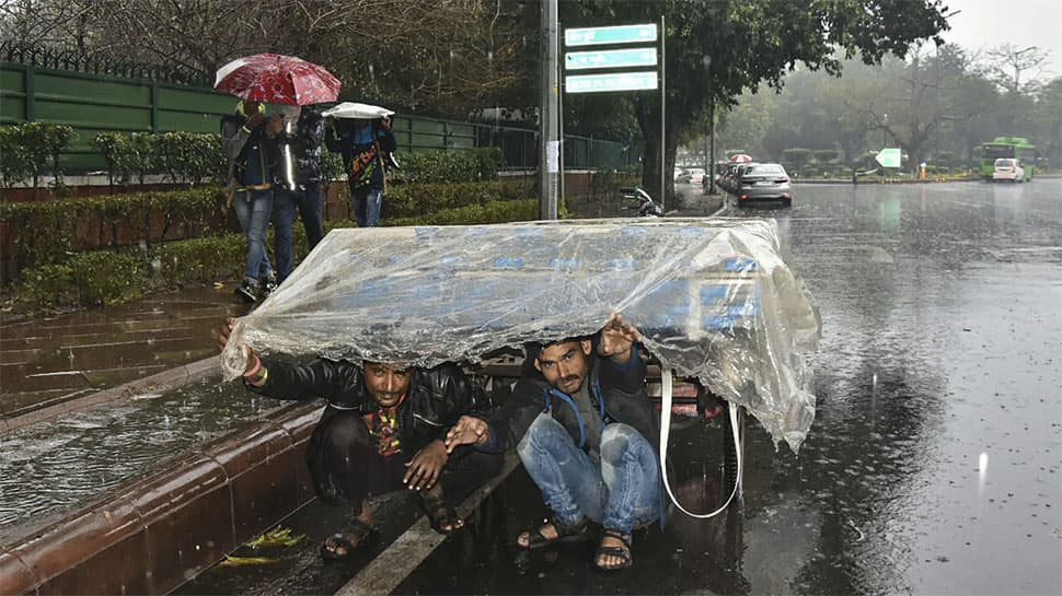 Hailstorm, heavy rainfall lash Delhi; 38 flights diverted
