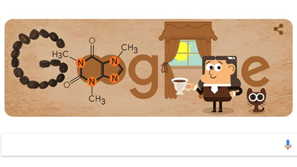 Google Doodle honours German chemist Friedlieb Ferdinand Runge who identified caffeine