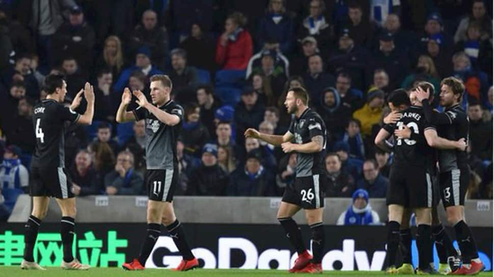 Chris Wood helps Burnley earn win at Brighton to move clear of bottom three