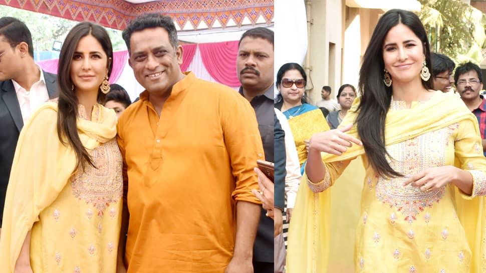 Katrina Kaif dons ethnic avatar for Saraswati Puja at Anurag Basu's residence—See pics