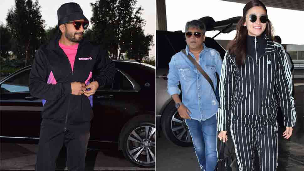 Gully Boy actors Ranveer Singh, Alia Bhatt spotted with Zoya Akhtar at airport — pics