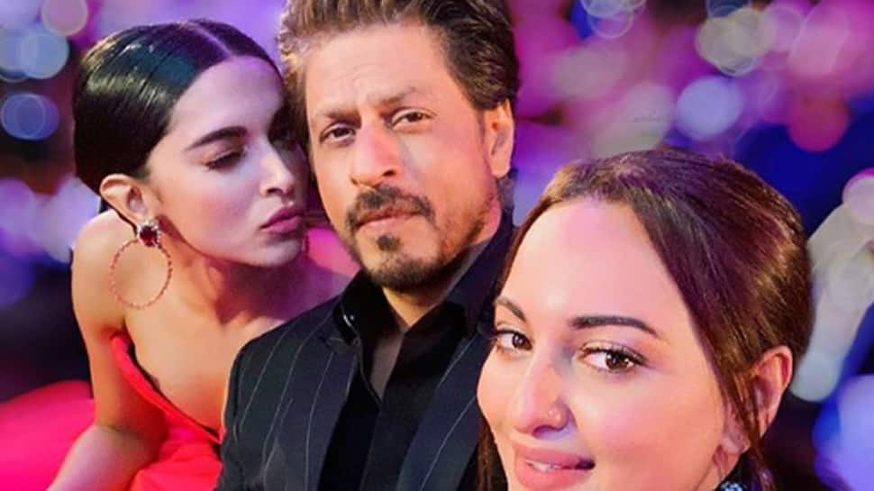 Shah Rukh Khan, Deepika Padukone and Sonakshi Sinha's 'money shot' pic is unmissable!