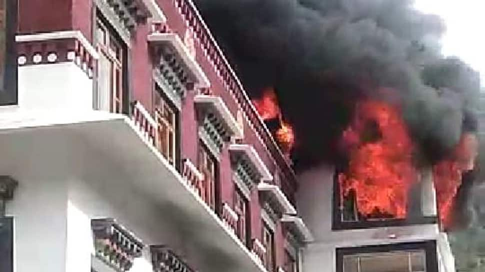 Fire breaks out in monastery in Himachal Pradesh's Kullu