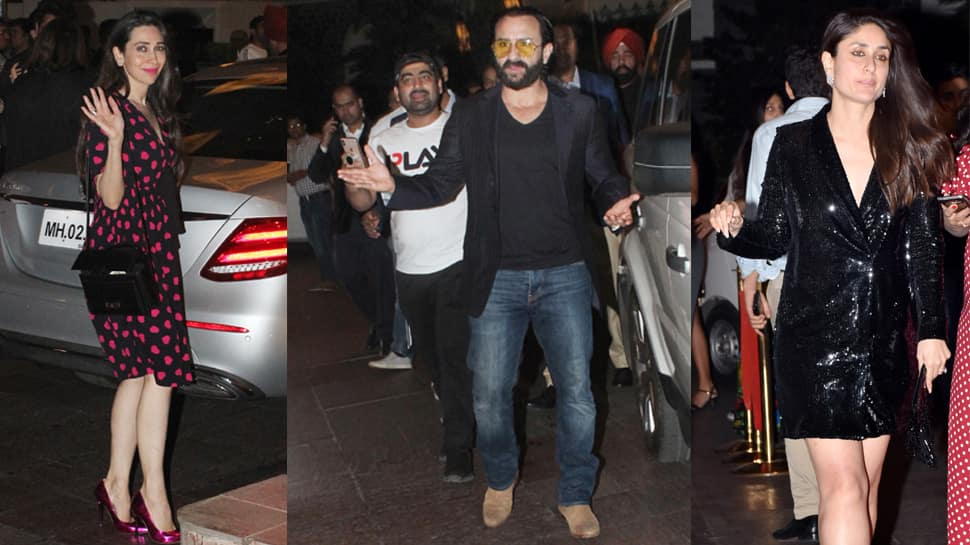 Kareena, Karisma Kapoor and Saif Ali Khan celebrate Randhir Kapoor's birthday together - In Pics