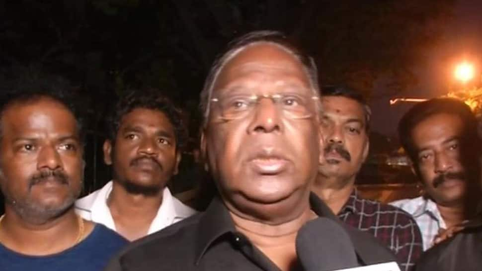 On fourth day of dharna Puducherry CM asks supporters to ensure law and order is not disrupted