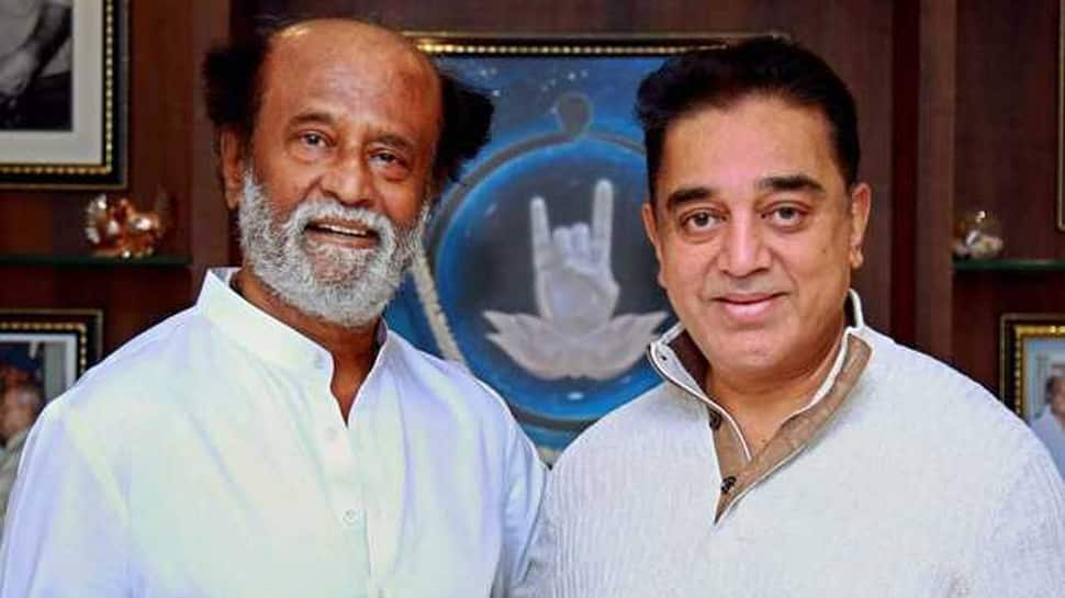 Kamal Haasan takes a dig at Rajinikanth after he pulls out of Lok Sabha race