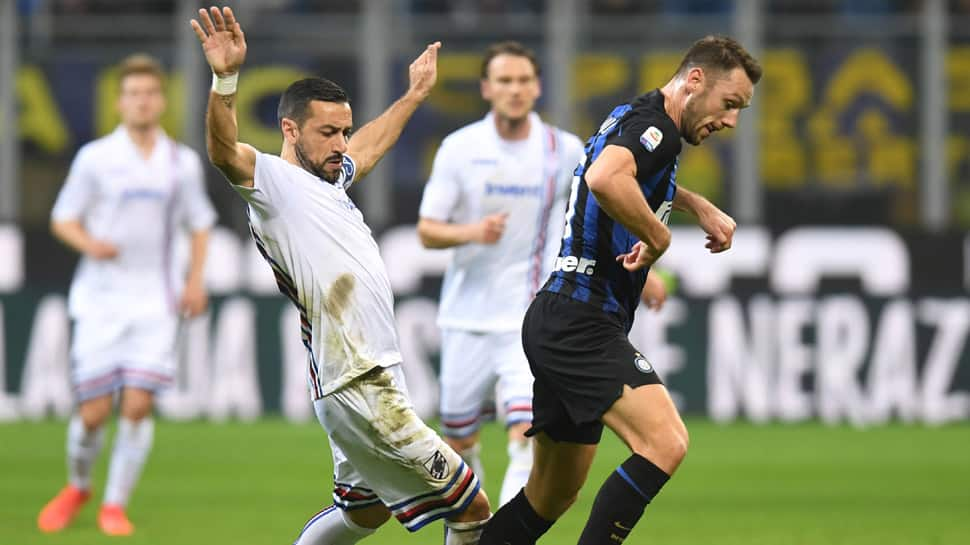 Serie A: Inter Milan edge past Sampdoria as Mauro Icardi watches from stands