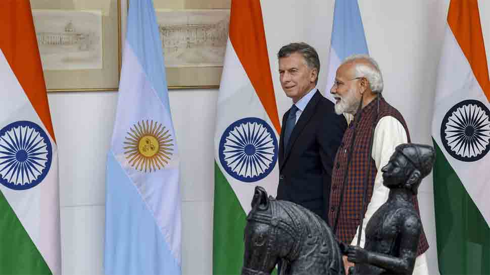 PM Narendra Modi, Argentina President Mauricio Macri hold delegation-level talks in New Delhi